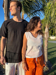 Pushaoo shirt Copy of Unisex Black Hemp Shirt Hemp  Sustainable Clothes