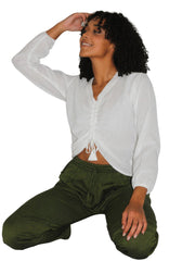 Pushaoo shirt Hemp Women Shirt Hemp  Sustainable Clothes