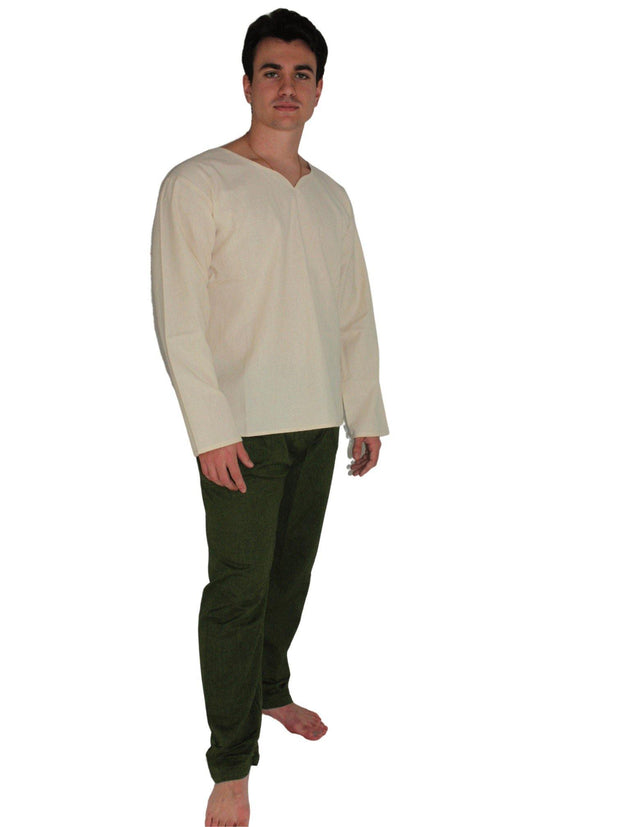 Pushaoo White Hemp Shirt Hemp  Sustainable Clothes