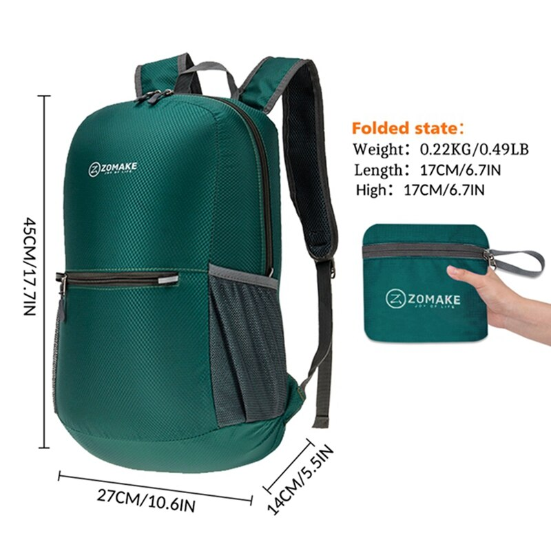 Outdoor Foldable Backpack Lightweight Hiking 20L