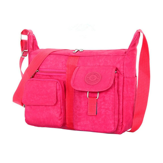 Women Messenger Bag Handbag Retro Zipper
