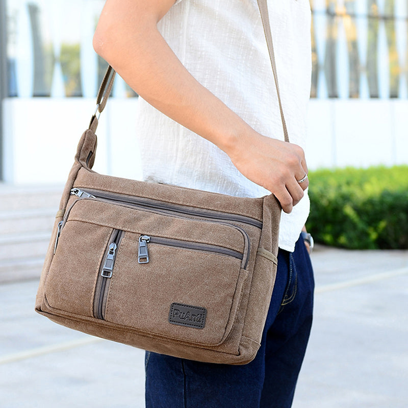 Shoulder Messenger Bag Retro Zipper