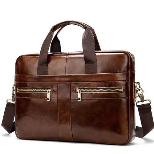 Messenger Bag Leather Briefcase Style