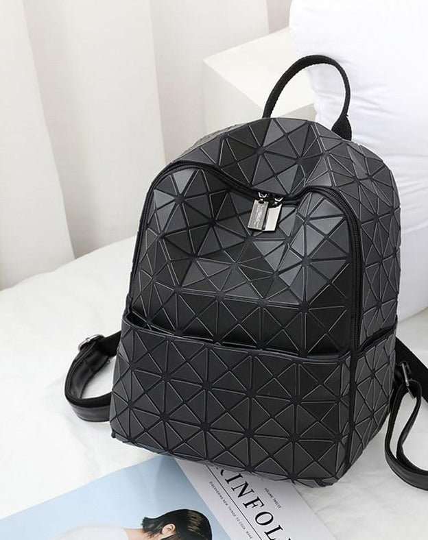 Luminous Geometric Girls Backpacks School Bag