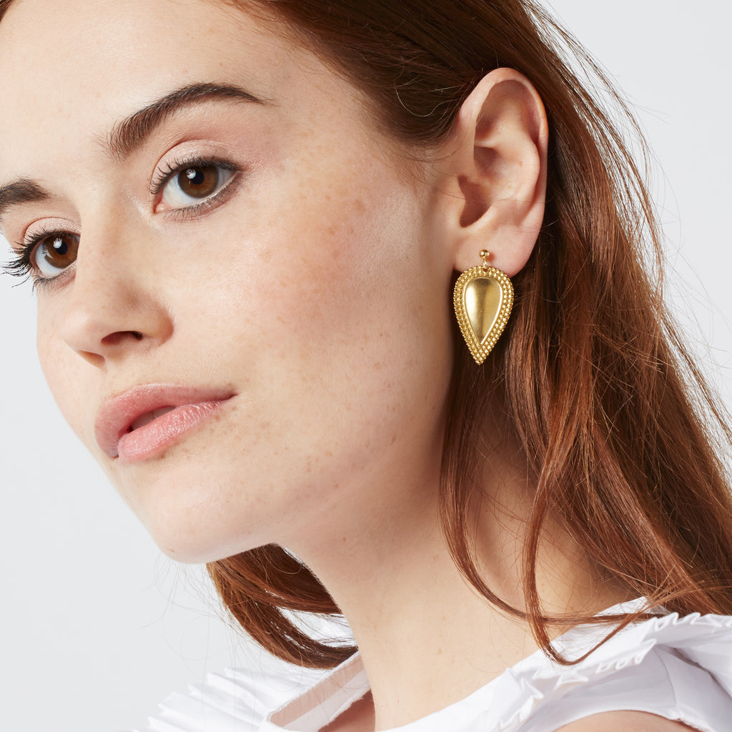Brass Teardrop Earrings