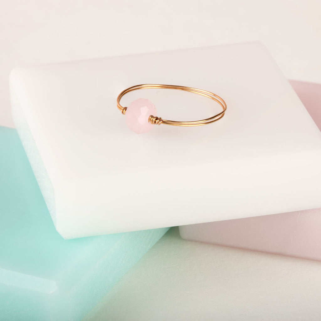 Skinny Ring With Pink Stone