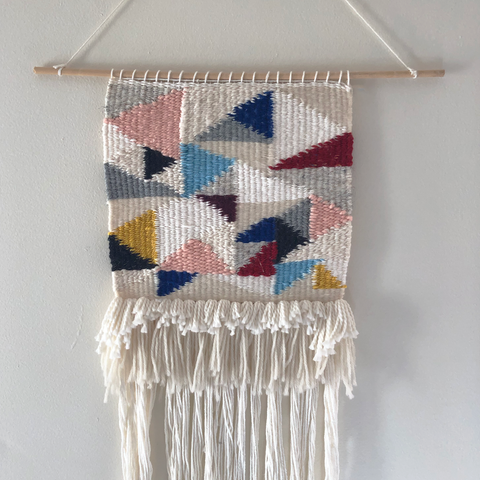 Triangle Woven Wall Hanging