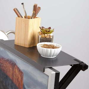 Creative Multifunctional Storage Shelf Adjustable Screen Top Shelf