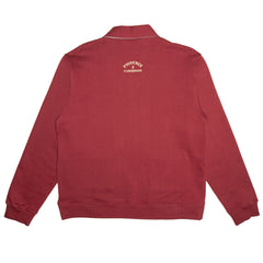 'Flowmingos' Organic Cotton Half Zip Fleece (Andorra)