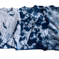 Natural Indigo Dyed Organic Cotton Fleece