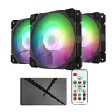 ARGB120 Black ARGB/PWM 120mm Case Fan Kit Addressable RGB Sync with PWM Smart Control
