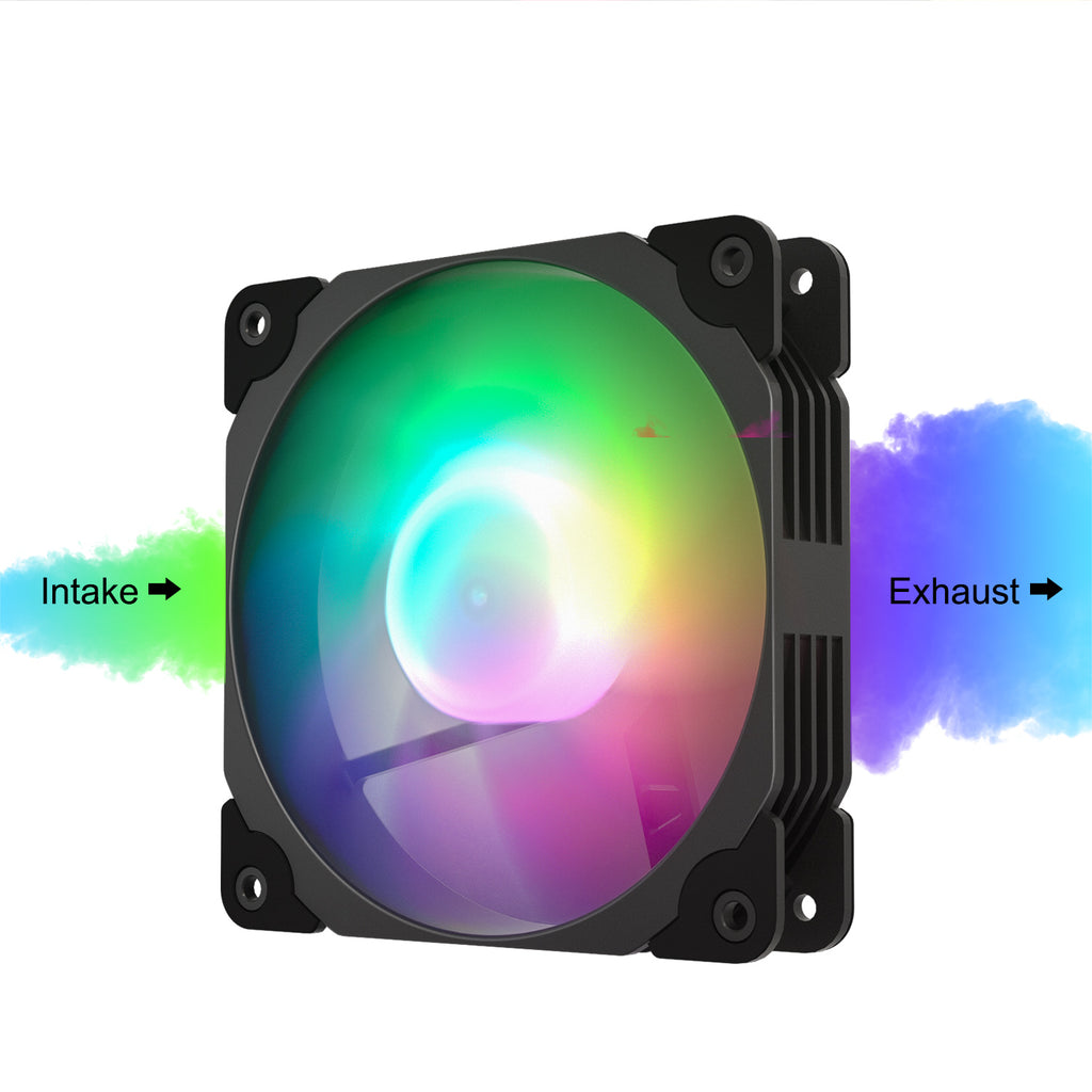 ARGB120 Black ARGB 120mm Case Fan Kit Addressable RGB Sync with PWM Smart Control