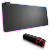 MP800 RGB Gaming Mouse Pad 14 Modes LED Lights Anti-Slip Rubber Base Soft Extended Large USB Mouse Mat for Laptop
