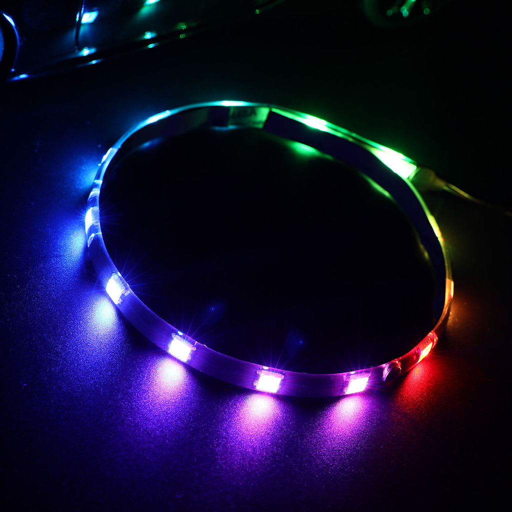 PC Single Magnetic and Sticker Addressable LED Strip Light for 5V 3pin ARGB LED headers