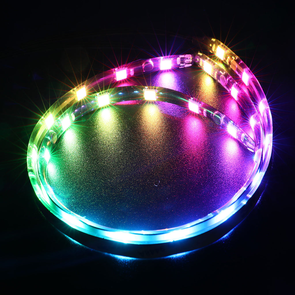 PC Dual Magnetic and Sticker Addressable LED Strip Light for 5V 3pin ARGB LED headers