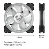 SY120 Dual Ring LED Addressable 120mm RGB LED Single Case Fan Kit MB Sync With 3Pin