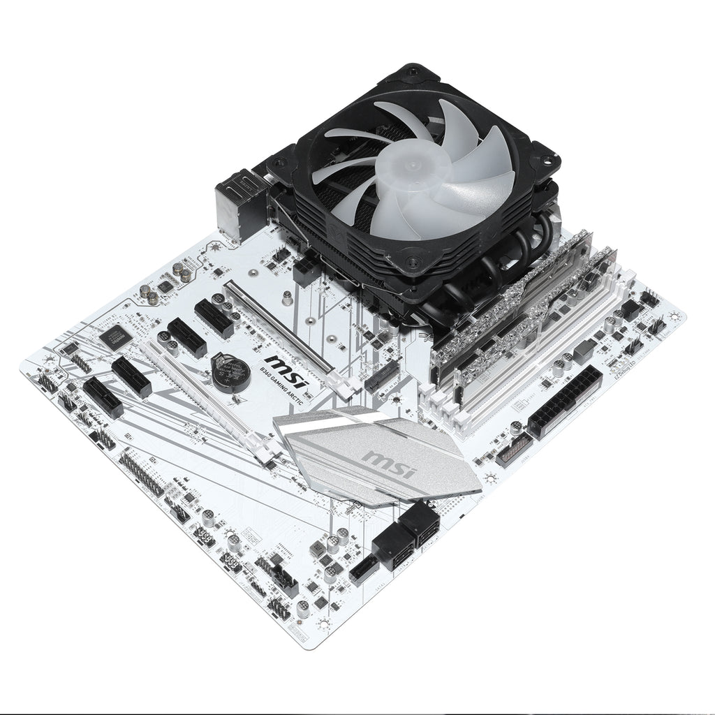 L5 CPU 5 Heat Pipes Black Low-Profile CPU Cooler ARGB 120 mm PWM Processor Fan for Intel and AMD Socket