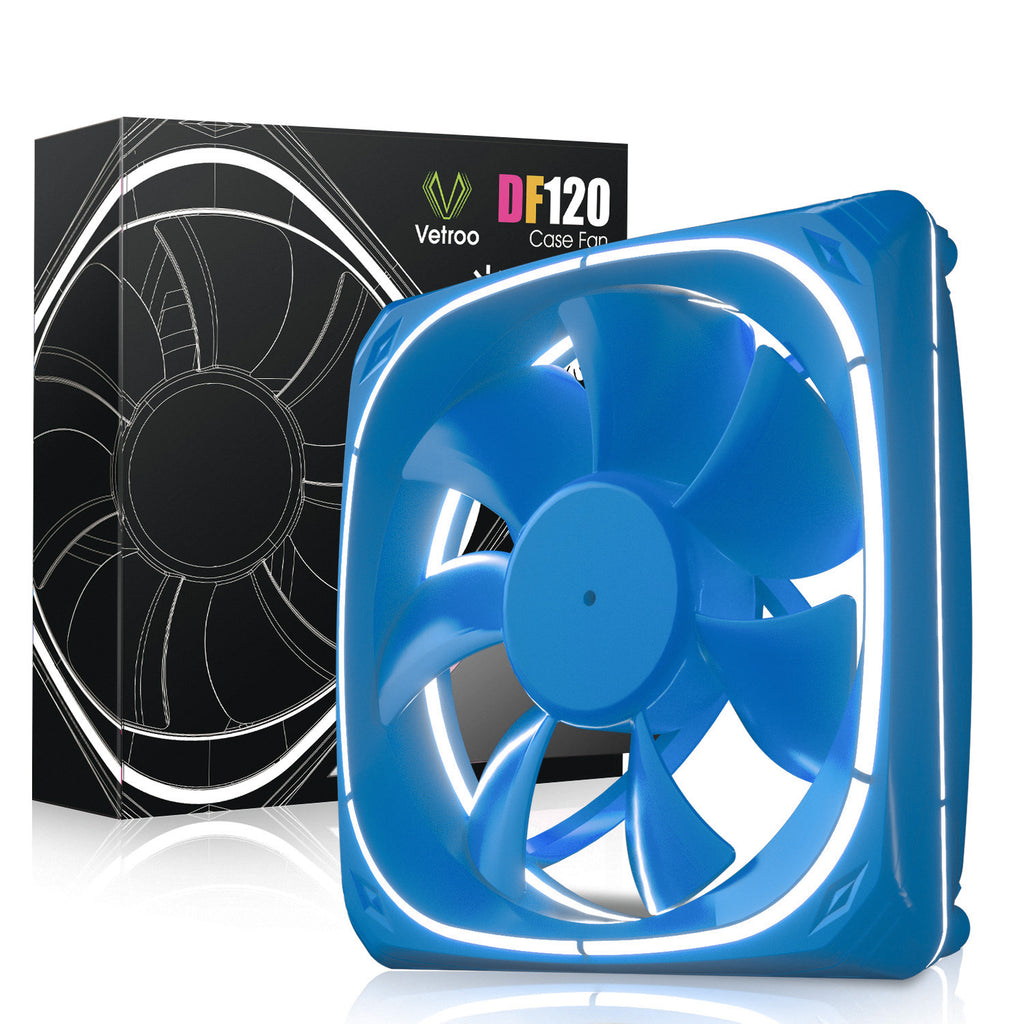 DF120 120mm Case Fan 5V 3PIN Addressable RGB MB Sync PC Cooling Fan With Blue Fan Frame