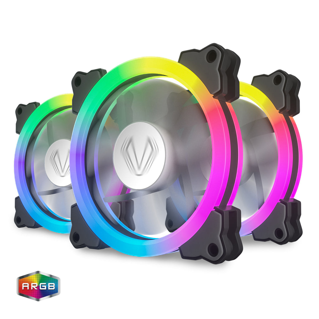 SY120 3In1 Fan Kit LED Addressable 120mm RGB LED Case Fan Kit MB Sync With 3Pin