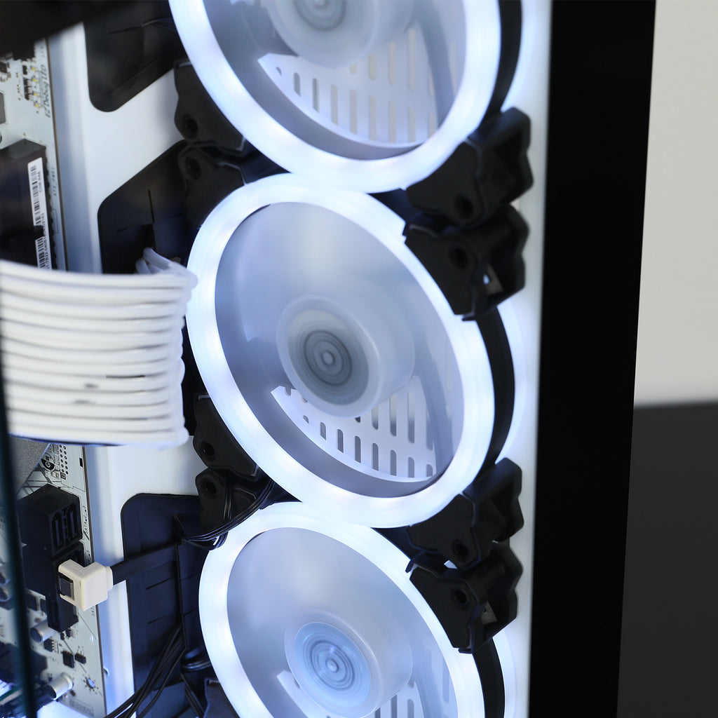 SG120 Dual Ring LED 120mm PC Computer Case Cooling Neon Quite Clear Fan Mod 4 Pin/3 Pin