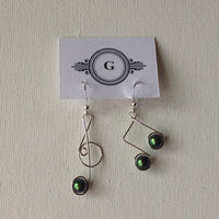 Gaby Sterling Silver Note Earrings and Stones