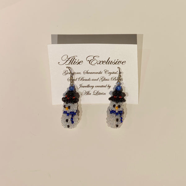 Alise Exclusive 3D Snowman Earrings