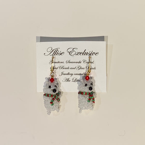 Alise Exclusive 3D Teddy Bear Earrings