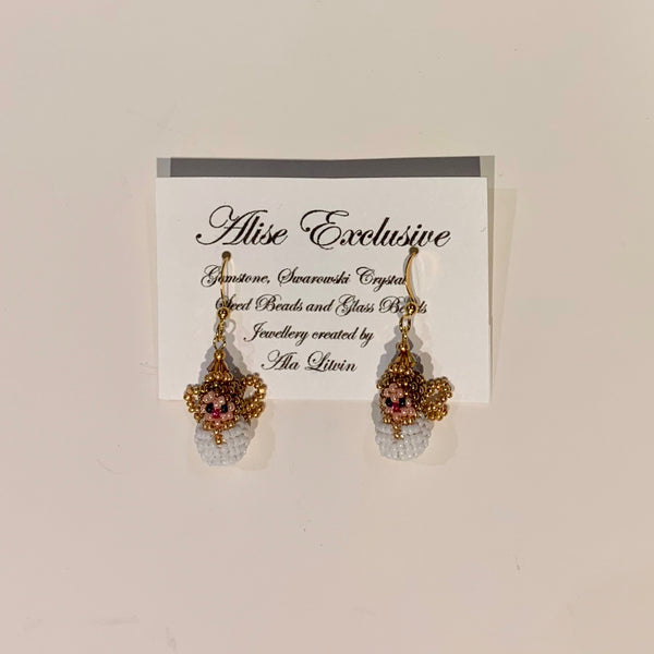 Alise Exclusive Earrings Tiny Angel Gold