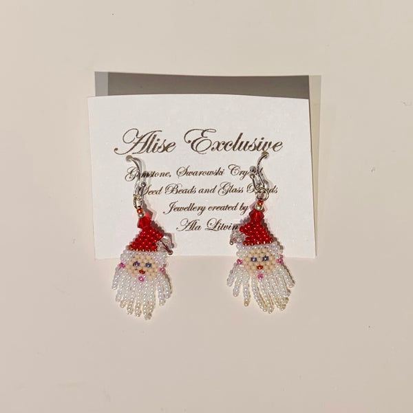 Alise Exclusive Santa Face Earrings