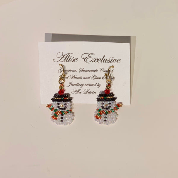 Alise Exclusive Snowman with Crystal Earrings