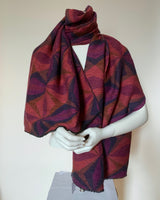 Crinkle Scarf Abstract Diamond