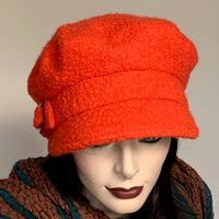 Fanfreluche Captain Cap Boiled Wool Orange