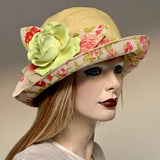 "Fanfreluche ""Jacinda"" Hat Linen Eden Collection"