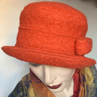 Fanfreluche Jojo Hat Pumpkin Boiled Wool