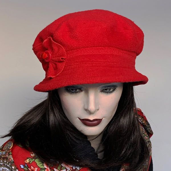 Fanfreluche Judy Hat Boiled Wool Red