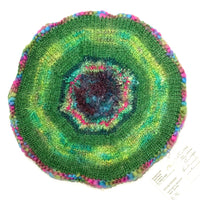 Ildiko Beret Mohair Blend Green and Multi