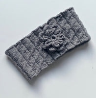Ildiko Headband Grey Wool