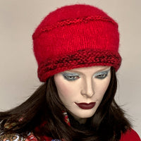 Ildiko Pillbox Toque Red Mix