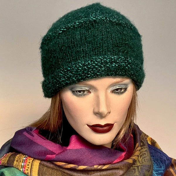 Ildiko Pillbox Toque Sea Green Mix