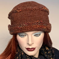 Ildiko Pillbox Toque Soft Brown Mix