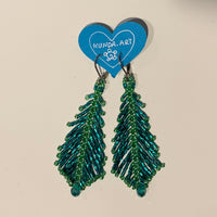 "Kunda Art Beaded ""Feather"" Earrings"