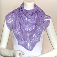 Alpaca and Silk Orenburg Shawl in Lilac