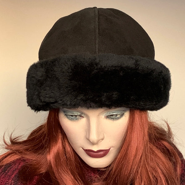 Sheared Comfort Sheepskin Ollie Hat Black
