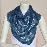 Alpaca and Silk Orenburg Shawl in Multiple Colour Selection, Medium Size