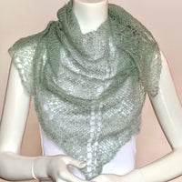 Mohair and Silk Orenburg Shawl in Multiple Color Selection, Small Size