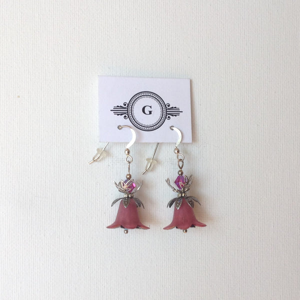 Gaby Lily Bells Flower Earrings with Silver