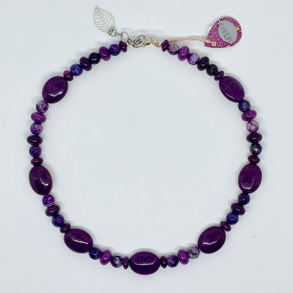 Cirque Collection Power Purple and Silver Necklace