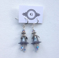 Gaby Lucite Flower Earrings Silver Special Edition