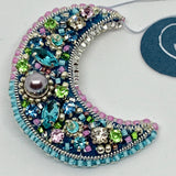 Kunda Art 'Crescent Moon' Beaded Pin