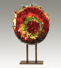 Load image into Gallery viewer, Fused Glass Rosette Nebula